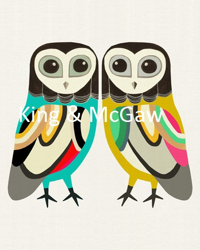 Owl print from King & Mcgaw