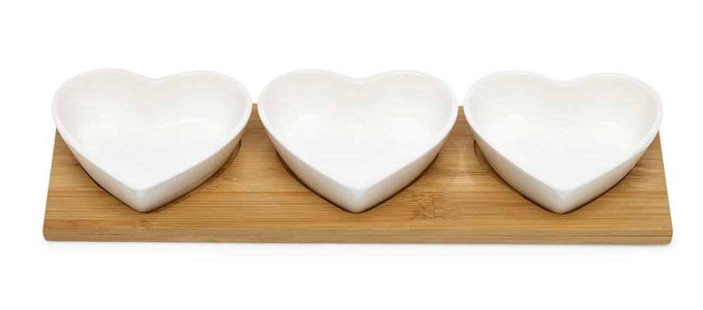 Wilko bowl heart set